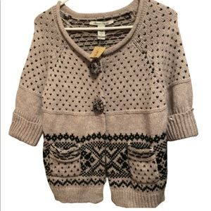 American Rag Medium Brown Black Sweater Knitted